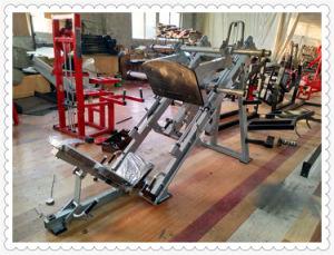 Pressa del piedino da 45 gradi, strumentazione di ginnastica di concentrazione del martello di forma fisica