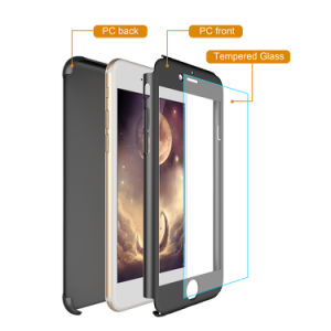 360度の完全なカバー緩和されたガラスが付いている保護細く堅いパソコンの携帯電話の箱、プラスiPhone 6s/のiPhone 7のための携帯電話の箱