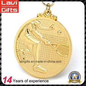 리본을%s 가진 미국 금 도금 금속 메달을 주문 설계하십시오