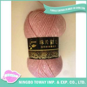 Embarcação de acrílico Tecelagem de fios de lã de fantasia para tricotar com lantejoulas