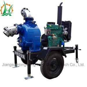 Amorçage automatique monté sur la remorque des eaux usées de la pompe Diesel
