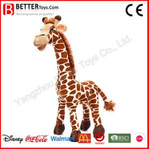 Giocattolo farcito molle della giraffa degli animali realistici della peluche di ASTM