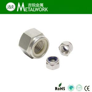 En acier inoxydable 304 / 316 / hexagonale à tête hexagonale de l'écrou de blocage en Nylon (DIN985)