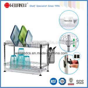 2 niveles de cromo de la competencia para rack de plato de metal fabricante de China (CJ-C5006)