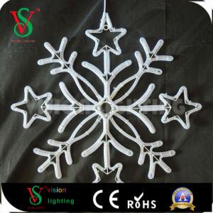 2D Straßenlaternedes Schneeflocke-Dekoration-Motiv-Licht-LED
