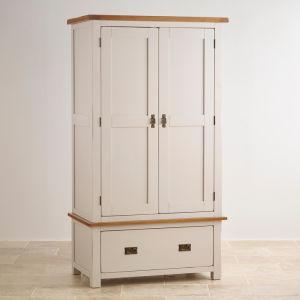 Peint en blanc chambre moderne en bois massif de chêne 2 portes avec ...