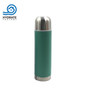 Doppel-wandige Wasser-Flasche des Edelstahl-304 mit Gewehrkugel-Form