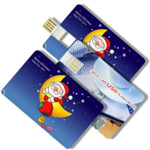 ODMの習慣はUSB駆動機構8GBのクレジットカード様式の昇進の親指駆動機構を印刷した