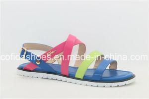 2016 Nouveau mode de sangles PU Lady sandale plat