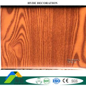 La couleur en Bois 250mm de largeur du film stratifié de panneaux muraux en PVC