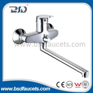 An der Wand befestigtes Durable Brass Bath Shower Faucet mit Long Spout