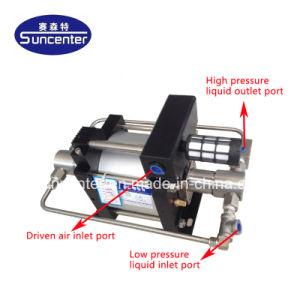 10 Bar Portable Air-Driven Suncenter-2000 Bar Pompe d'essai de pression hydraulique