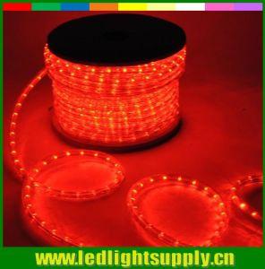 赤いカラー10mm直径の防水クリスマスの照明LEDロープ
