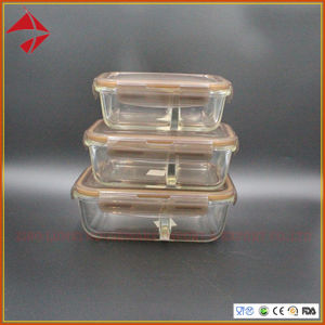 2 de alto horno de microondas del compartimento de almacenamiento de alimentos de vidrio de borosilicato de recipientes con tapa hermética