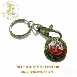 도매 관례는 여자 친구를 위한 선물에 의하여 새겨진 사기질에 의하여 만들어진 Keychains를 개인화했다