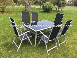 Nuevo diseño Aluminous mesa y silla de comedor Muebles de Exterior Set