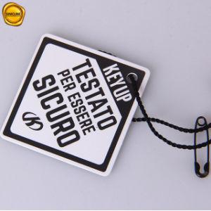 Sinicline Zoll gedruckter Diamant-PapierHangtag mit Zeichenkette und Sicherheit für Kleid