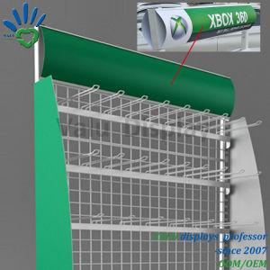 Banchi di mostra del pavimento del metallo con la mensola per le mostre di vendita al dettaglio della memoria del supermercato