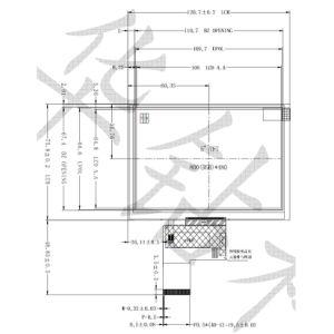 5 het Comité van de duim TFT LCD voor Apparatuur