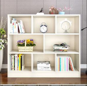 Preiswerter einfacher moderner weißer Bücherschrank