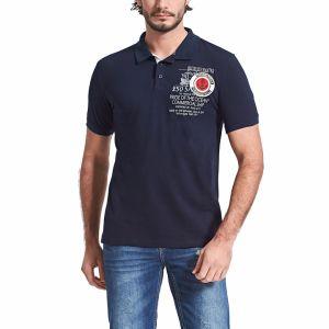 인쇄 로고 남자의 골프 빨간 폴로 셔츠