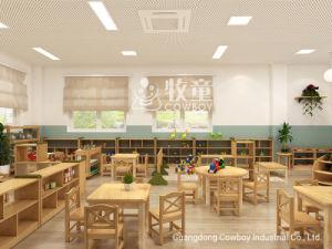 Mesa e cadeiras para crianças de cowboy crianças por grosso de mobiliário escolar de madeira