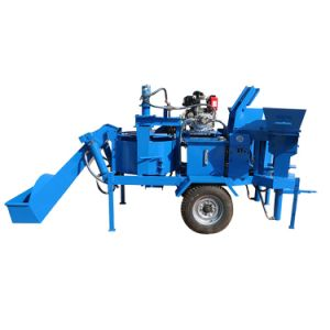 máquina para fabricação de tijolos de barro móvel