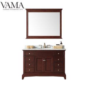 Vama 48 Polegadas Marrom antigo Madeira contraplacada economizar espaço de armário de banheiro 709048