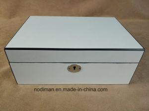 Contenitore di monili di lusso di colore bianco di qualità superiore/casella di legno