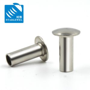 2-8mm de diamètre du tuyau Semi-Hollow rivet en acier inoxydable 304