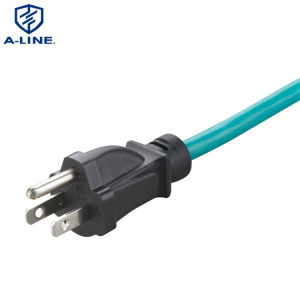 Nosotros aislados en PVC resistente al agua para interiores 5-15P Cable de alimentación AC