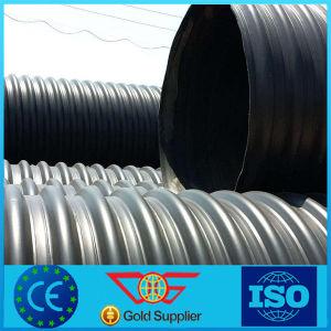 Tubo de drenaje de HDPE correa de acero reforzado tubo corrugado