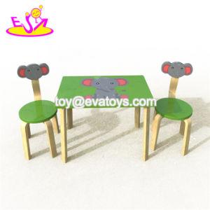 2018 Nuevo Diseño original de madera de preescolares juego de mesa y silla para niños W08G246