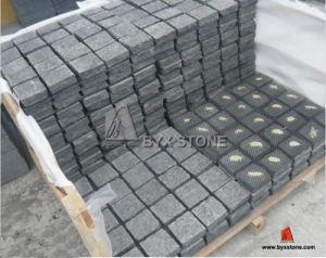 G684 Granito Preto Cobblestones para Entrada da Garagem Pavimentação e Paisagismo
