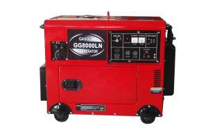 6 kVA Soundproof Gasoline Generator Set (GG8000LN)