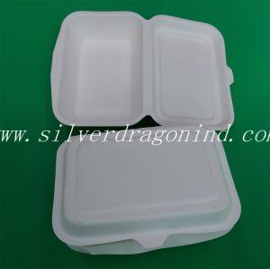 Cadre moulé de empaquetage à emporter remplaçable biodégradable de pulpe de papier d'aliments de préparation rapide