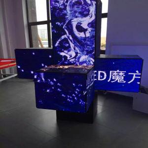 Forme carrée exposition promotionnelle la pendaison de signer l'affichage
