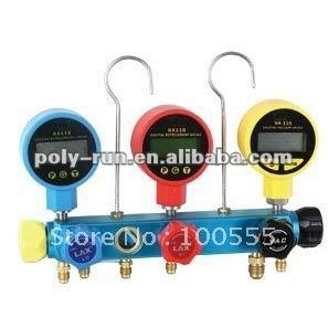 5-Valve Digital Manifold Gauge Set, Digital Pressure Gauge Pr1009c
