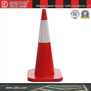 100cm tous orange trafic cône en caoutchouc à usage intensif (CC-A101)