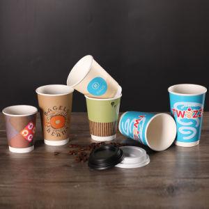 Jetables en papier Café Tasse à double paroi avec couvercle