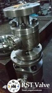 Il perno di articolazione forgiato Wcb d'acciaio ha flangiato valvola a sfera 3PC