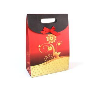 Мода Праздник красного цвета с покрытием - подарочные бумажные пакеты