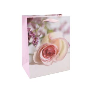 Розовый тюльпан моды арт бумага с покрытием подарочные бумажные пакеты