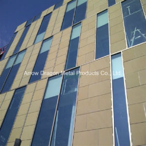 Los golpes de piedra de granito en forma de panal de aluminio para panel de revestimiento de pared exterior