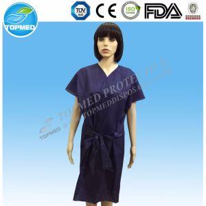 Pp.-Krankenhaus-Kleidungs-geduldiges Kleid dunkelblaue pp. scheuern Klage