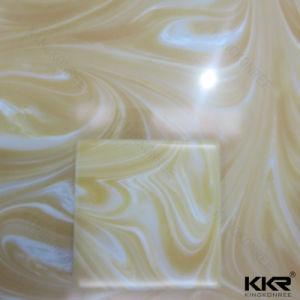 Piedra artificial Superficie sólida de acrílico translúcido el panel de pared