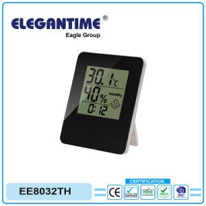 Thermomètre et hygromètre avec écran LCD de l'horloge pour cadeaux Promotion