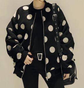 Rivestimento casuale esterno dei puntini di disegno alla moda di colore per le donne