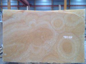 Het opgepoetste Marmeren Onyx van de Honing van de Plak voor de Tegel of de Muur van de Bevloering