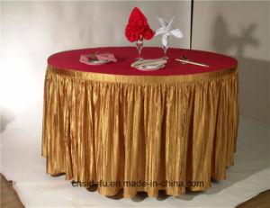 Юбка таблицы сатинировки партии банкета гостиницы круглая декоративная